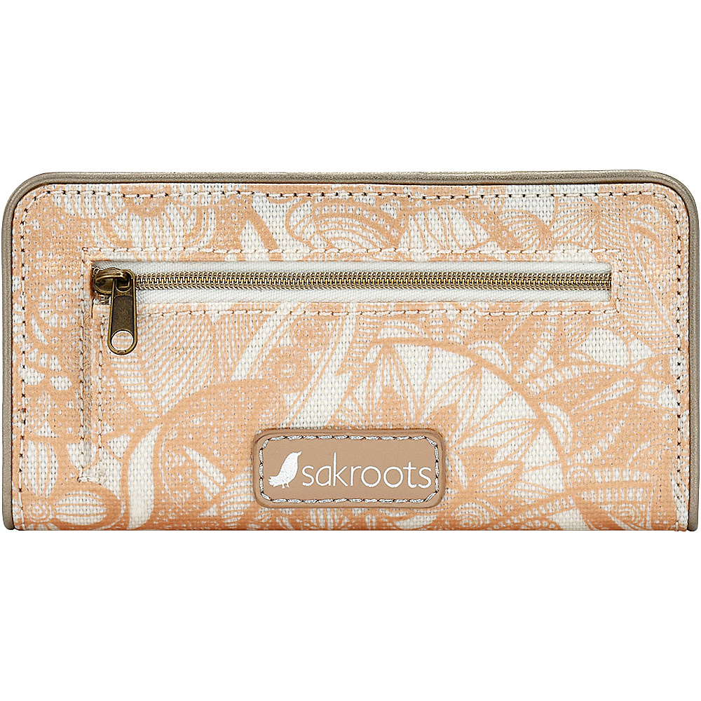 Sakroots Artist Circle Slim Wallet Rose Gold Spirit Desert - Sakroots Womens Wallets - Women's SLG, Women's Wallets