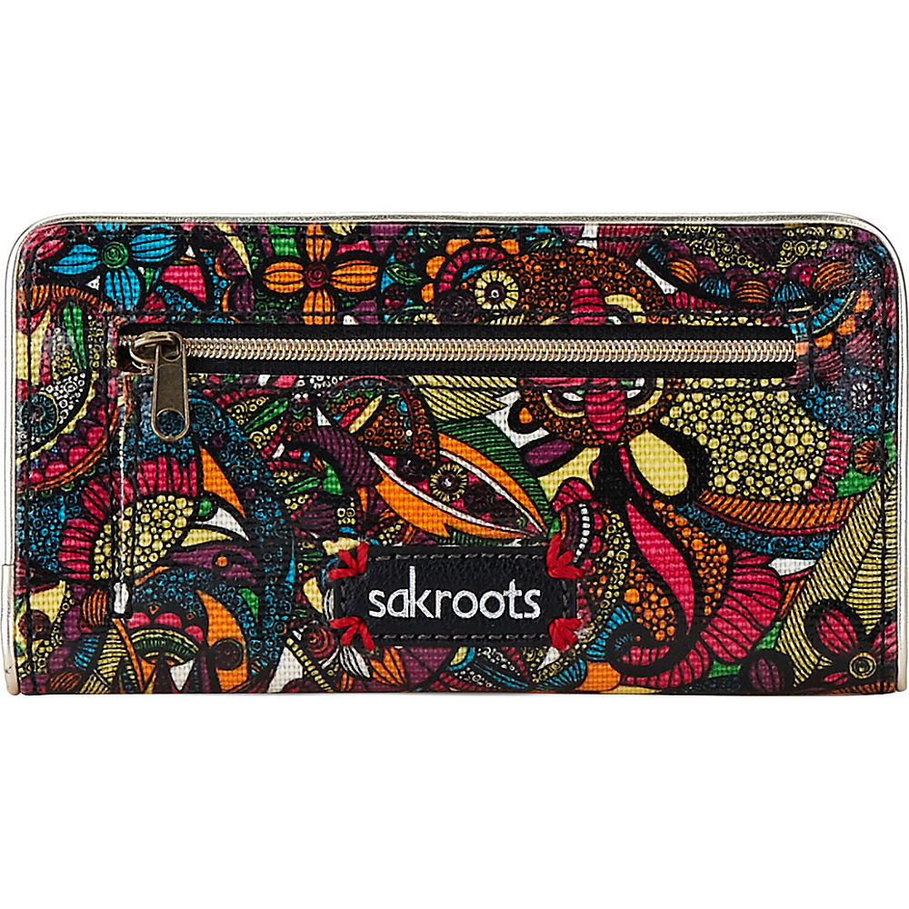 Sakroots Artist Circle Slim Wallet Rainbow Spirit Desert Sakroots Women s Wallets