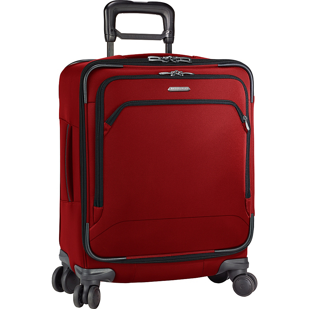 Briggs Riley Transcend 300 Intl Carry On Wide body Spinner Crimson Briggs Riley Softside Carry On