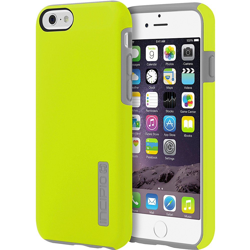 Incipio DualPro iPhone 6 6s Case Lime Charcoal Incipio Electronic Cases