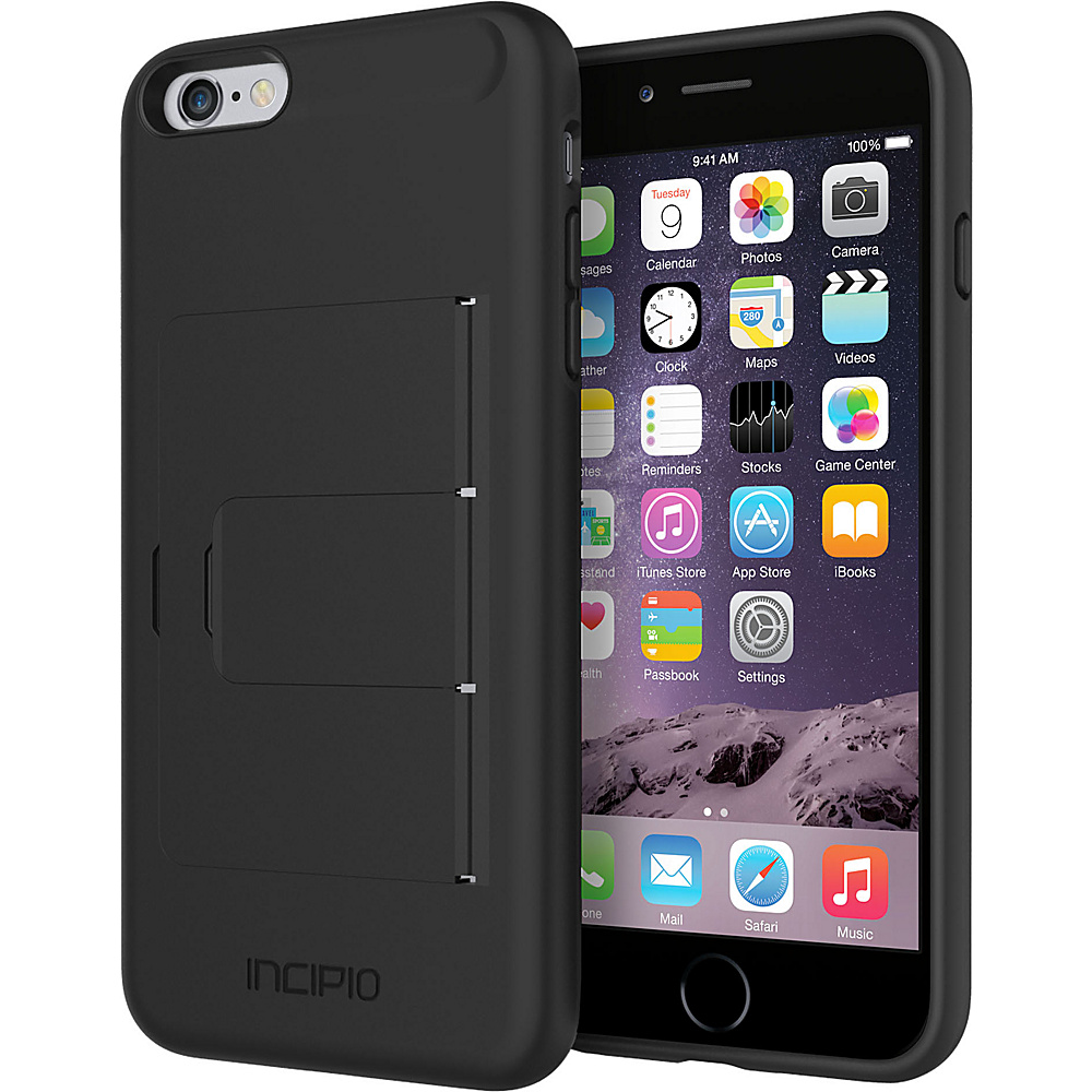 Incipio Stowaway Advance iPhone 6/6s Plus Case Black/Black - Incipio Electronic Cases - Technology, Electronic Cases