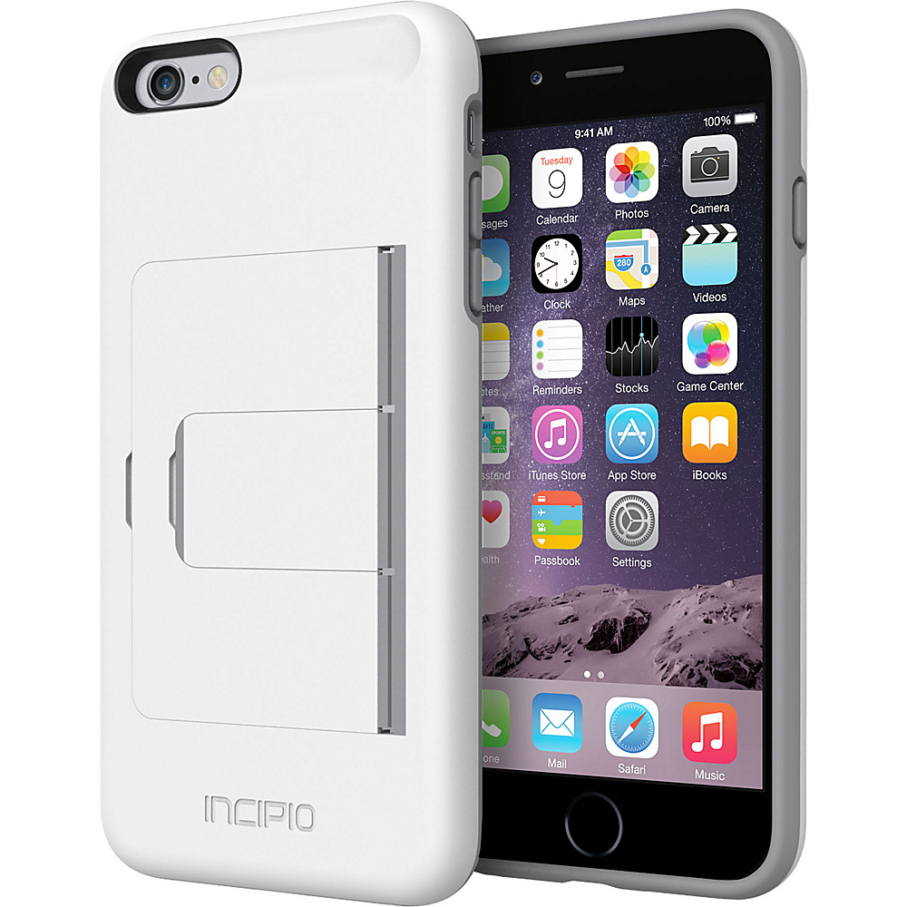 Incipio Stowaway Advance iPhone 6/6s Plus Case White/Dark Gray - Incipio Electronic Cases - Technology, Electronic Cases