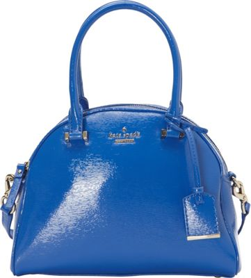 kate spade new york Cedar Street Patent Small Pearl Satchel Orbit Blue - kate spade new york Designer Handbags