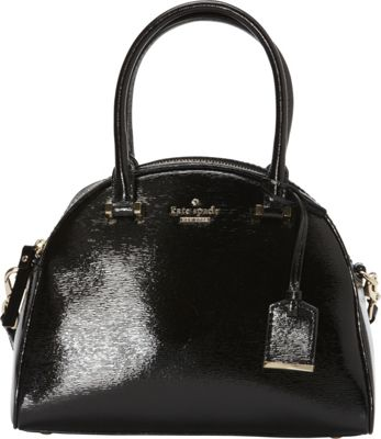 kate spade new york Cedar Street Patent Small Pearl Satchel Black - kate spade new york Designer Handbags