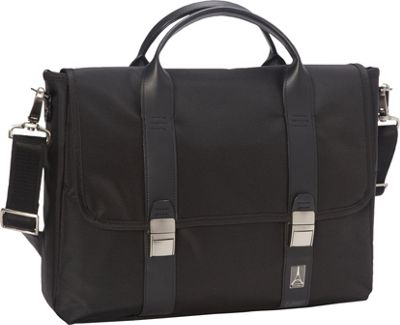 Travelpro Crew Executive Choice Messenger Laptop Case Black - Travelpro Non-Wheeled Business Cases