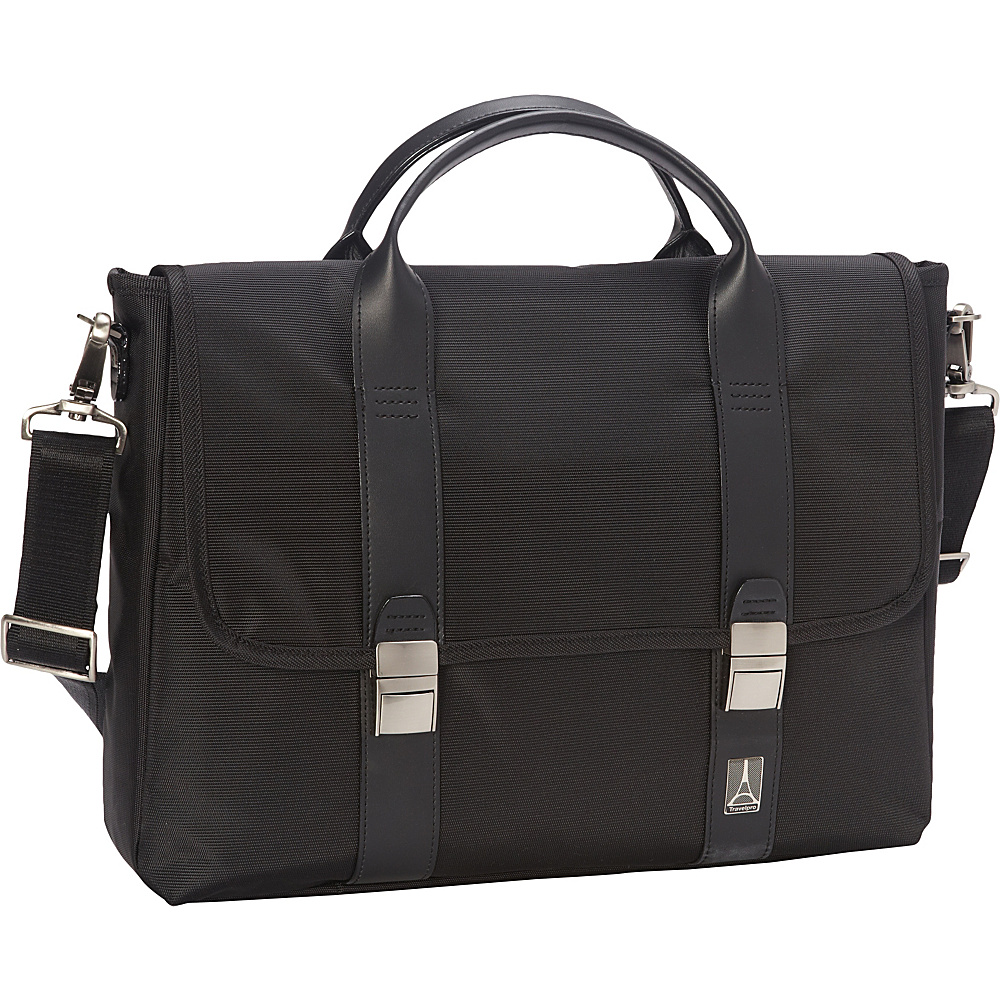 Travelpro Crew Executive Choice Messenger Laptop Case Black Travelpro Non Wheeled Business Cases