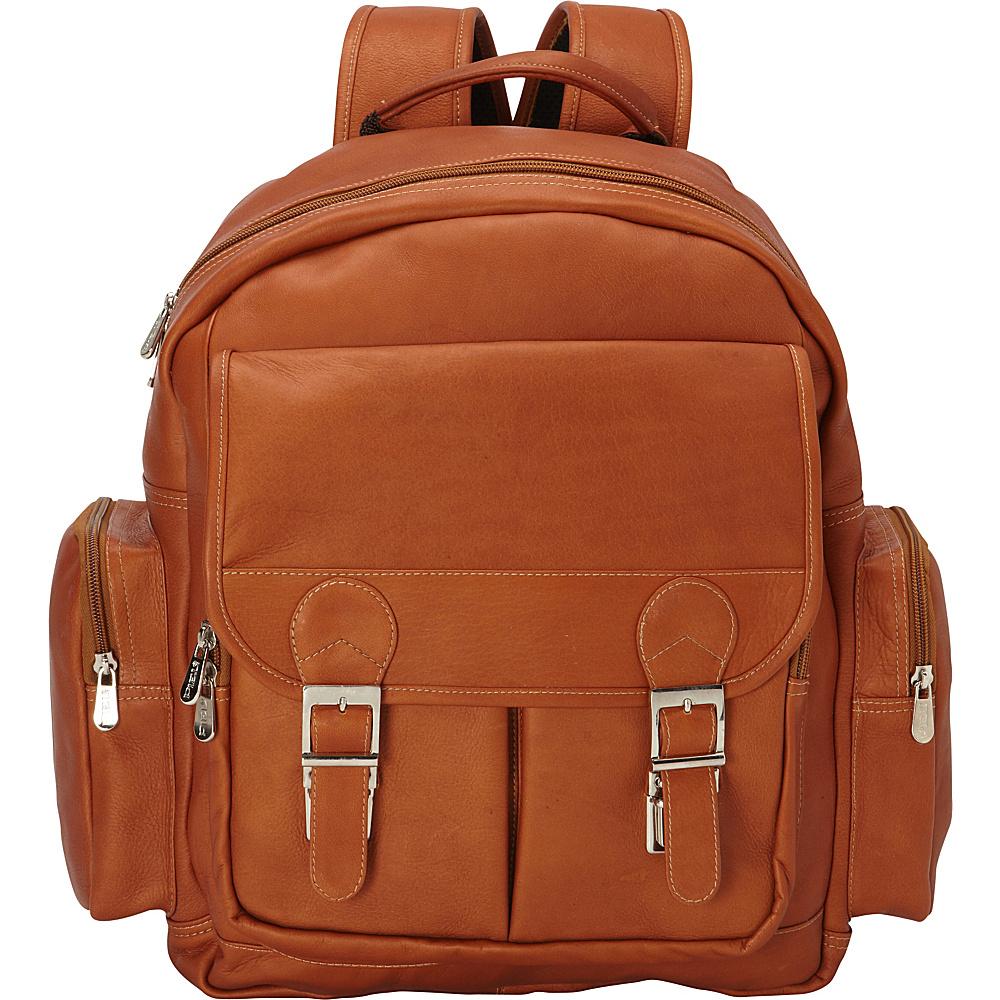 Piel Ultimate Travelers Laptop Backpack Saddle - Piel Business & Laptop Backpacks - Backpacks, Business & Laptop Backpacks