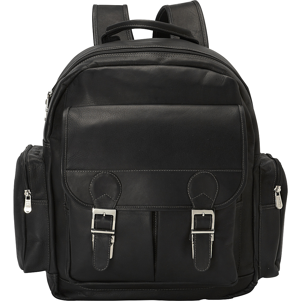 Piel Ultimate Travelers Laptop Backpack Black - Piel Business & Laptop Backpacks - Backpacks, Business & Laptop Backpacks