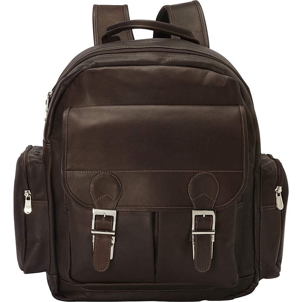 Piel Ultimate Travelers Laptop Backpack Chocolate - Piel Business & Laptop Backpacks - Backpacks, Business & Laptop Backpacks