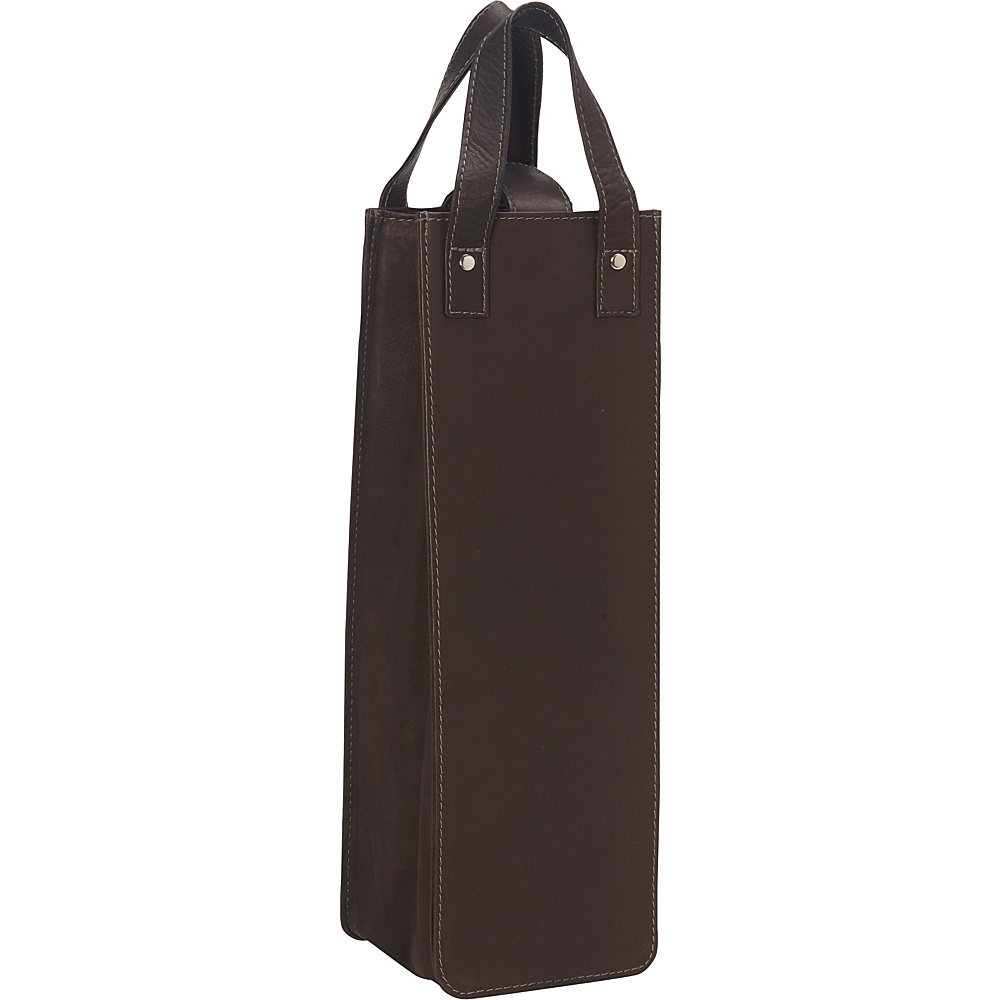 Piel Single Wine Tote Chocolate - Piel Outdoor Accessories - Outdoor, Outdoor Accessories