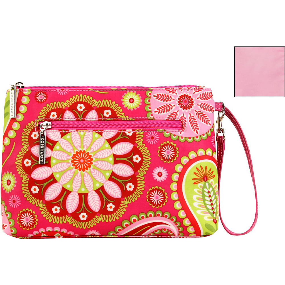 Kalencom Diaper Bag Clutch Gypsy Paisley Cotton Candy - Kalencom Diaper and Baby Accessories