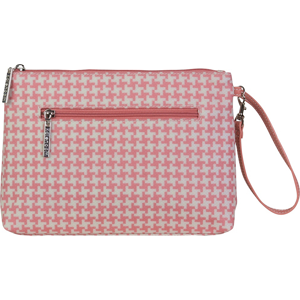 Kalencom Diaper Bag Clutch Houndstooth Pink Kalencom Diaper Bags Accessories