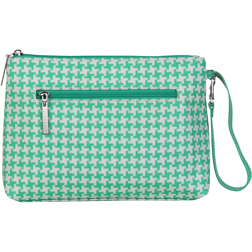 Kalencom Diaper Bag Clutch Houndstooth Teal Kalencom Diaper Bags Accessories