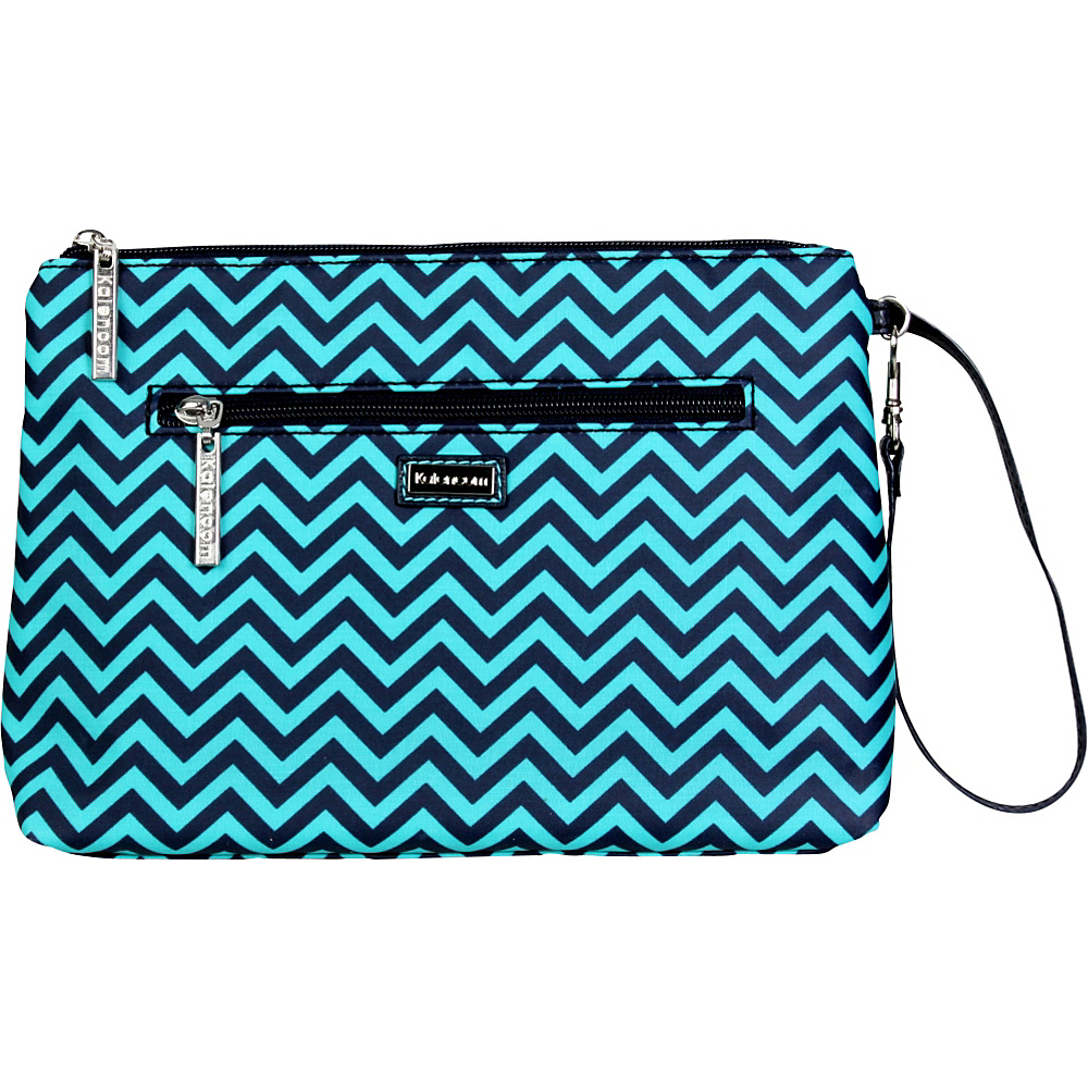 Kalencom Diaper Bag Clutch Wiggly Stripes - Ocean - Kalencom Diaper Bags & Accessories