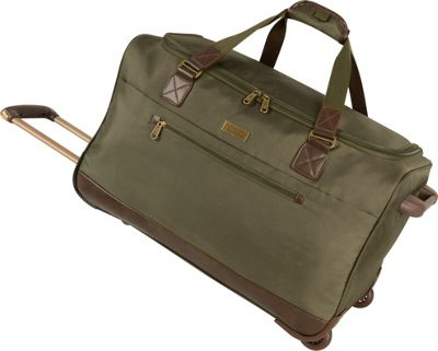 Tommy Bahama Surge 24 inch Wheeled Duffle Olive/Brown - Tommy Bahama Softside Checked