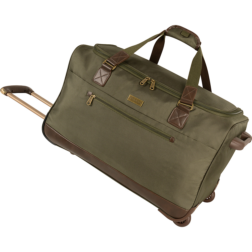Tommy Bahama Surge 24 Wheeled Duffle Olive Brown Tommy Bahama Softside Checked
