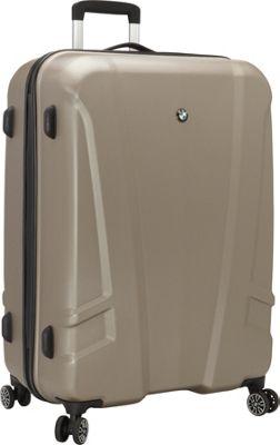 BMW Luggage 27 inch Split Case  8 Wheel Spinner Champagne - BMW Luggage Hardside Checked