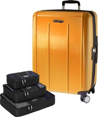 eBags Value Set:  EXO 2.0 Hardside 24 Spinner + Packing Cube - 3pc Set Yellow - eBags Hardside Checked