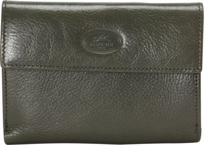 Mancini Leather Goods Equestrian 2 Collection: Ladie's RFID Small Clutch Wallet Olive Green - Mancini Leather Goods Women's Wallets
