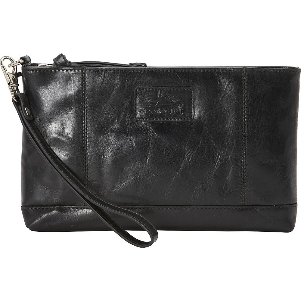 Mancini Leather Goods Ladies RFID Wristlet Black Mancini Leather Goods Women s Wallets