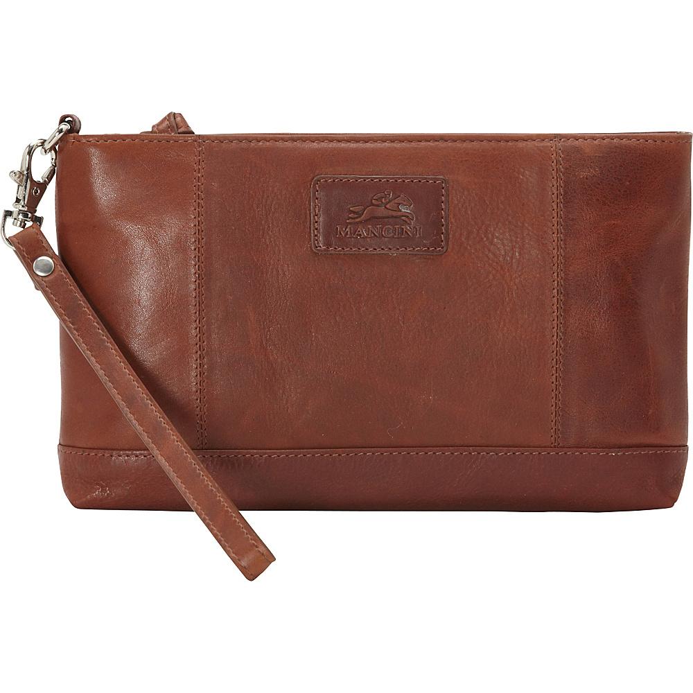 Mancini Leather Goods Ladies RFID Wristlet Cognac Mancini Leather Goods Women s Wallets