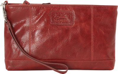 Mancini Leather Goods Casablanca Collection: Ladies Small RFID Wristlet Red - Mancini Leather Goods Women's Wallets