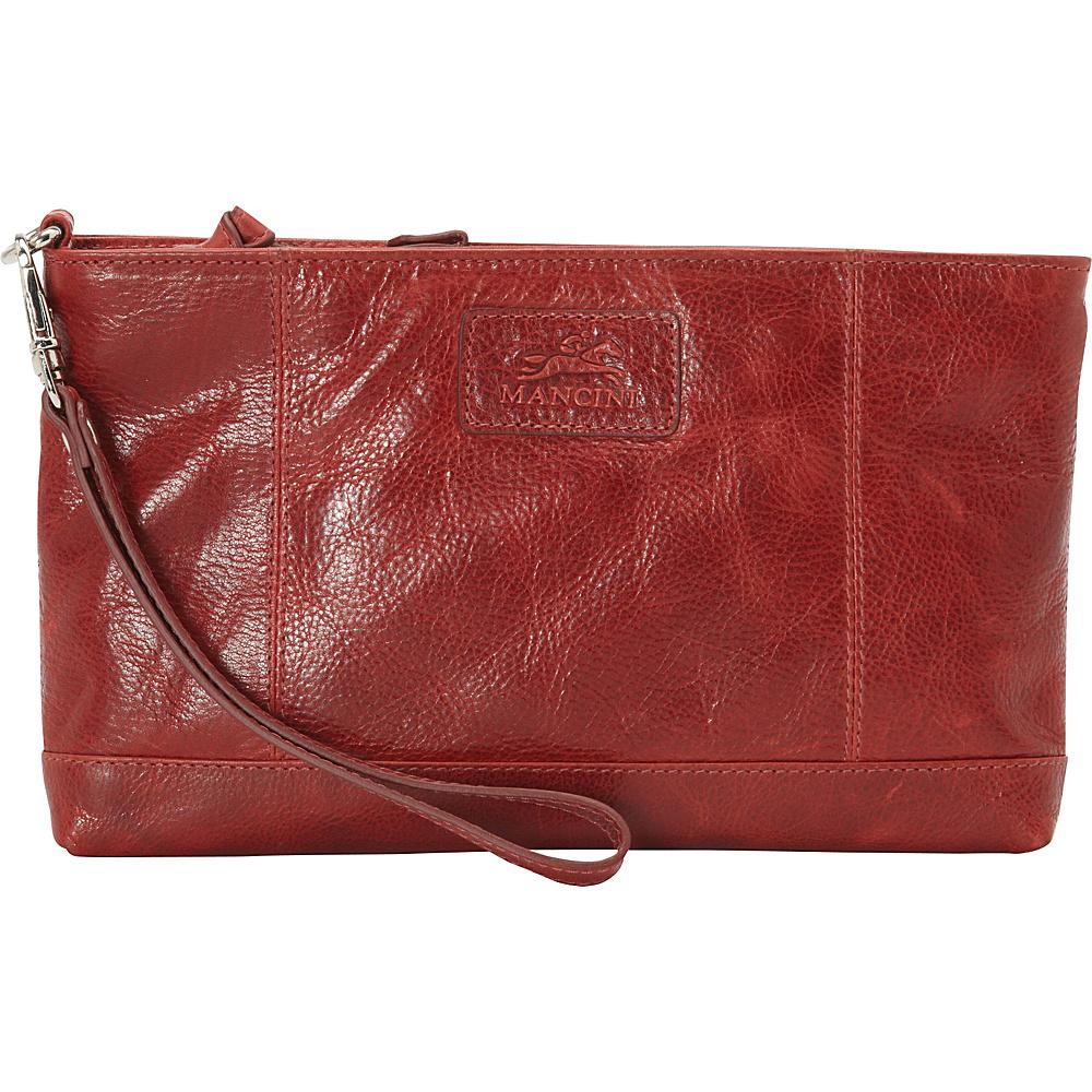 Mancini Leather Goods Ladies RFID Wristlet Red Mancini Leather Goods Women s Wallets
