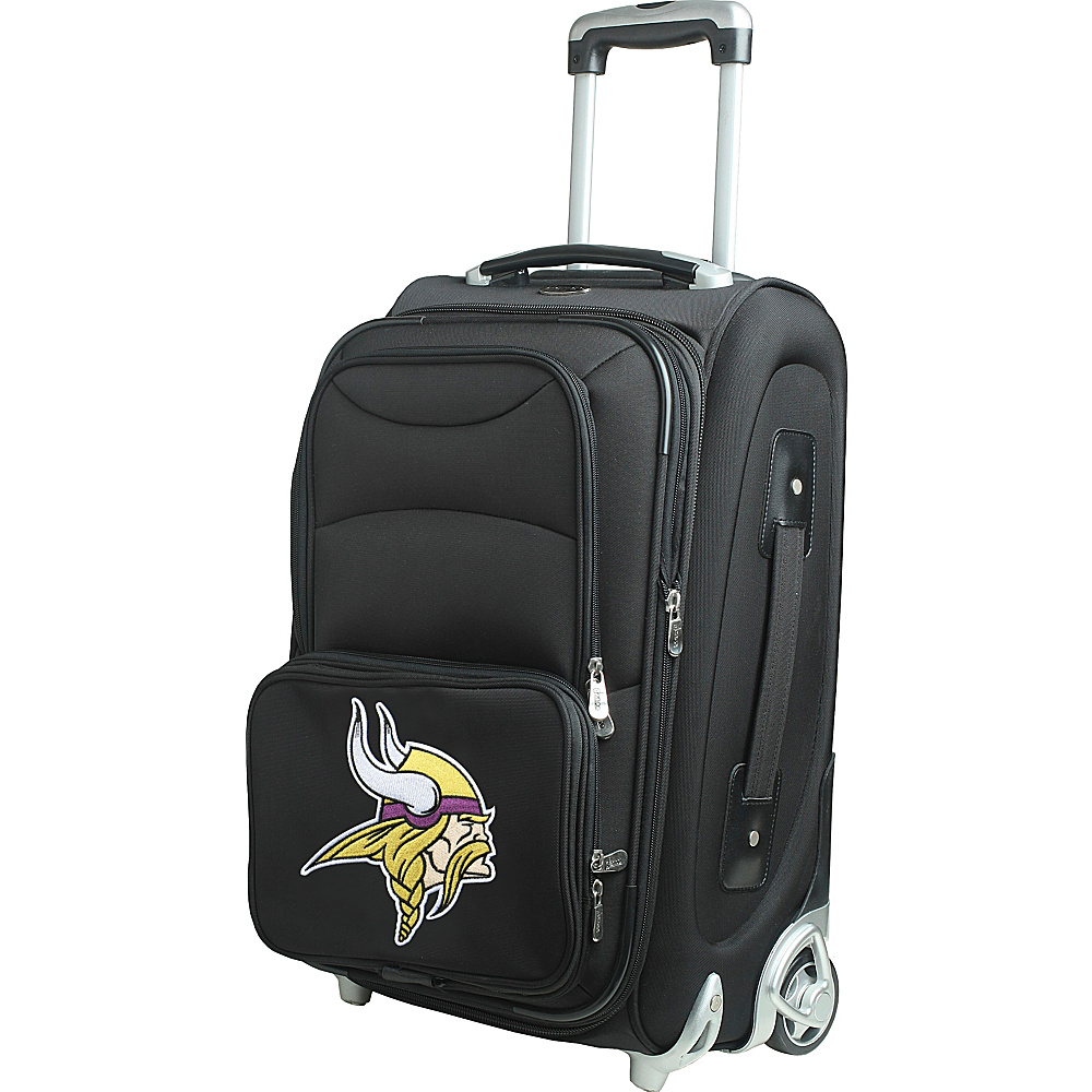 "Denco Sports Luggage NFL 21"" Wheeled Upright Minnesota Vikings - Denco Sports Luggage Softside Carry-On"