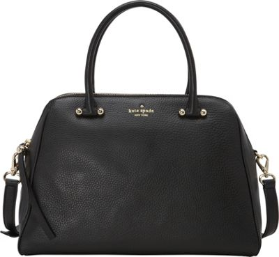 kate spade new york Charles Street Brantley Satchel Black - kate spade new york Designer Handbags