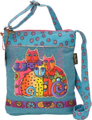 Laurel Burch Feline Clan Crossbody Multi - Laurel Burch Fabric Handbags