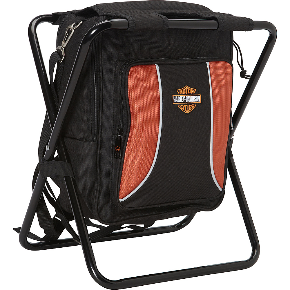 Harley Davidson by Athalon Backpack Cooler Seat Black Harley Davidson by Athalon Travel Coolers