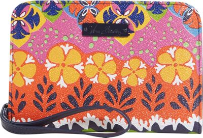 Vera Bradley Zip Around Wristlet Rio Stripe - Vera Bradley Manmade Handbags