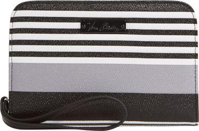 Vera Bradley Zip Around Wristlet Midnight Stripe - Vera Bradley Manmade Handbags