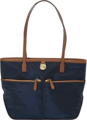 MICHAEL Michael Kors Kempton Medium Pocket Tote Navy - MICHAEL Michael Kors Designer Handbags