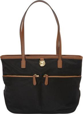 MICHAEL Michael Kors Kempton Medium Pocket Tote Black - MICHAEL Michael Kors Designer Handbags