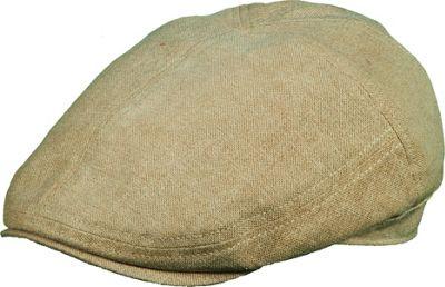 Stetson Linen Blend Ivy Cap Khaki-Large - Stetson Hats/Gloves/Scarves