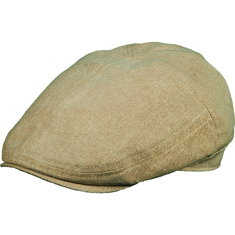 Stetson Linen Blend Ivy Cap Khaki Large Stetson Hats Gloves Scarves