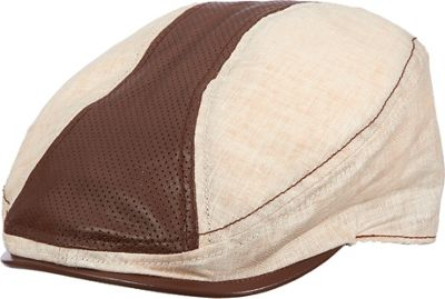Stetson Linen and Leather Ivy Cap M - Khaki - Stetson Hat...