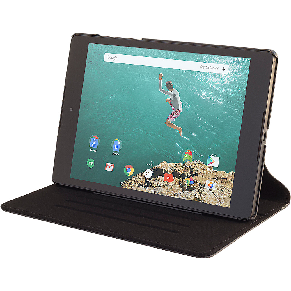 Devicewear Slim Google Nexus 9 case The Ridge with Six Position Flip Stand Cover Compatible Only with Google Nexus 9 Black Devicewear Electronic Cases