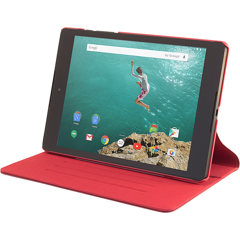 Devicewear Slim Google Nexus 9 case The Ridge with Six Position Flip Stand Cover Compatible Only with Google Nexus 9 Red Devicewear Electronic Cases