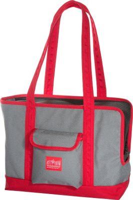 Manhattan Portage Pet Carrier Tote Bag Version 2 Grey/Red - Manhattan Portage Pet Bags