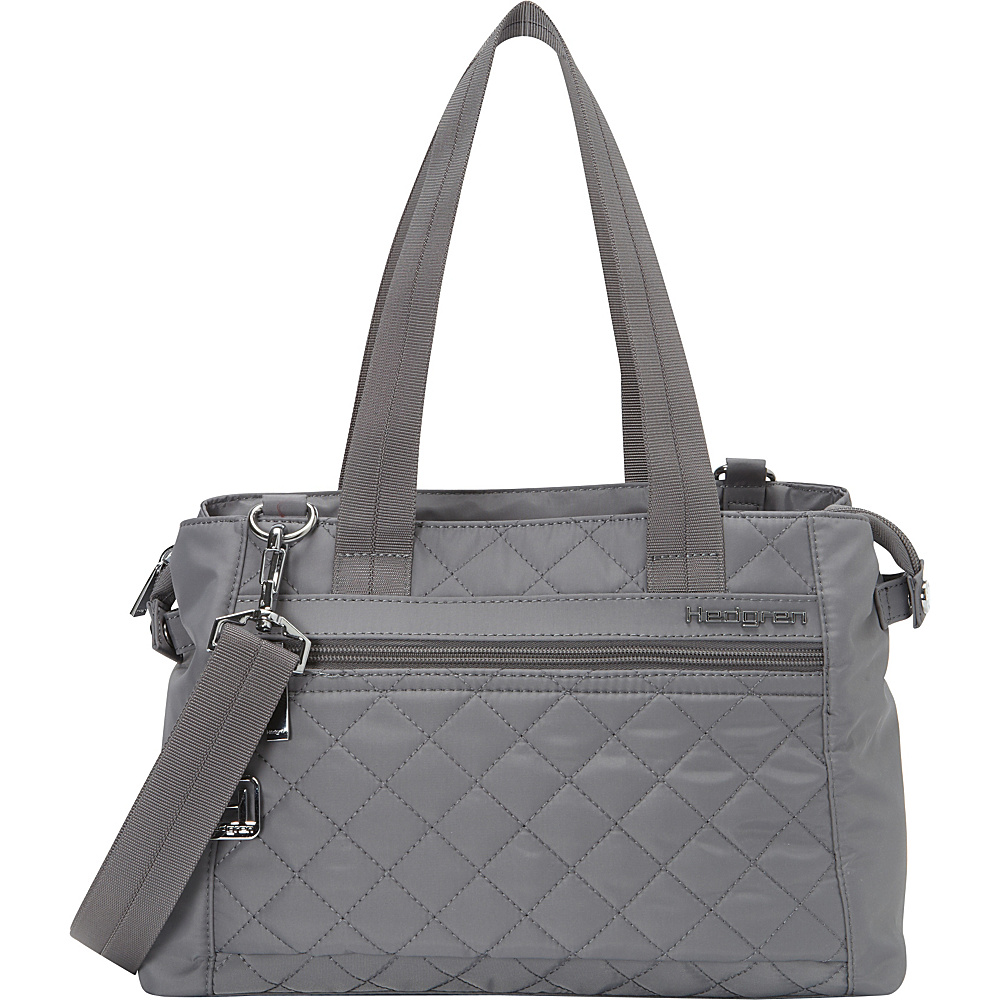 Hedgren Elenora Shoulder Bag Mouse Grey Hedgren Fabric Handbags