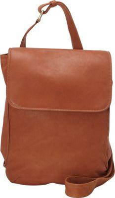 Derek Alexander N/S Half Flap Shoulder Bag Tan - Derek Alexander Leather Handbags