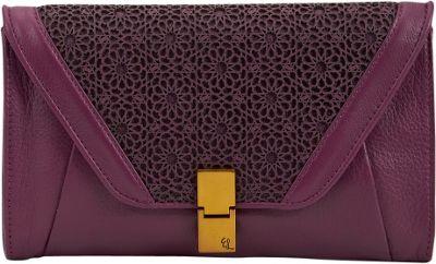 Elliott Lucca Cordoba Flip Lock Clutch Orchid Moroccan - Elliott Lucca Designer Handbags