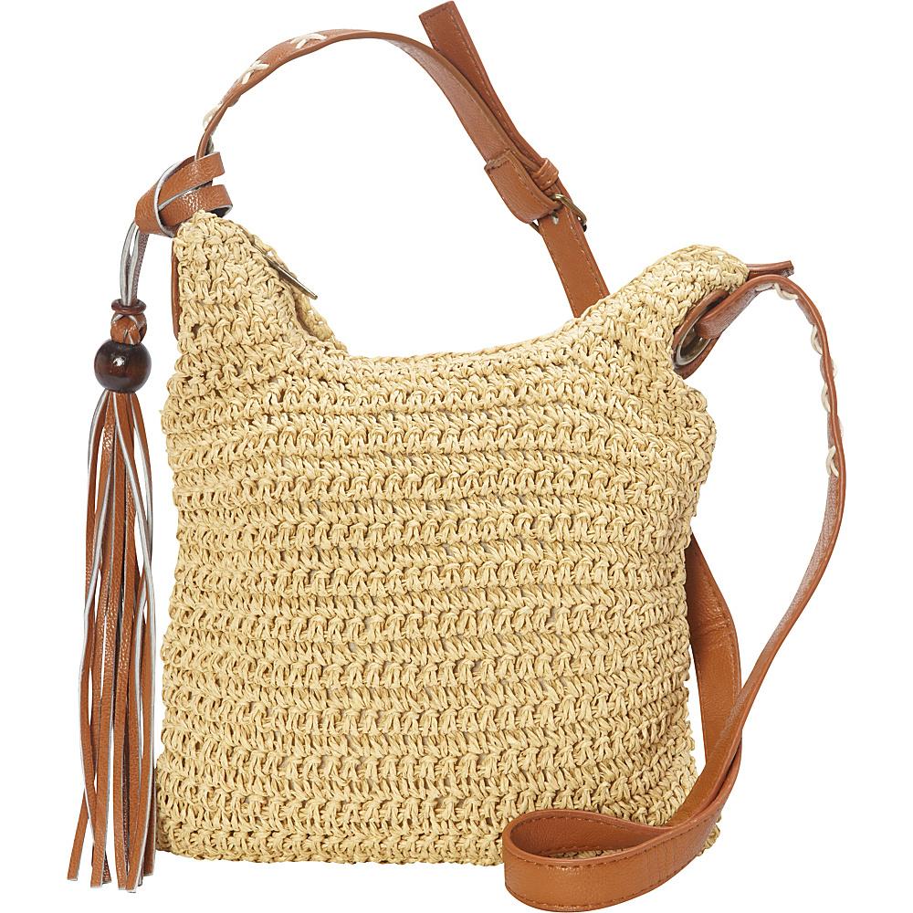 Sun N Sand Nina Crossbody Natural - Sun N Sand Straw Handbags - Handbags, Straw Handbags