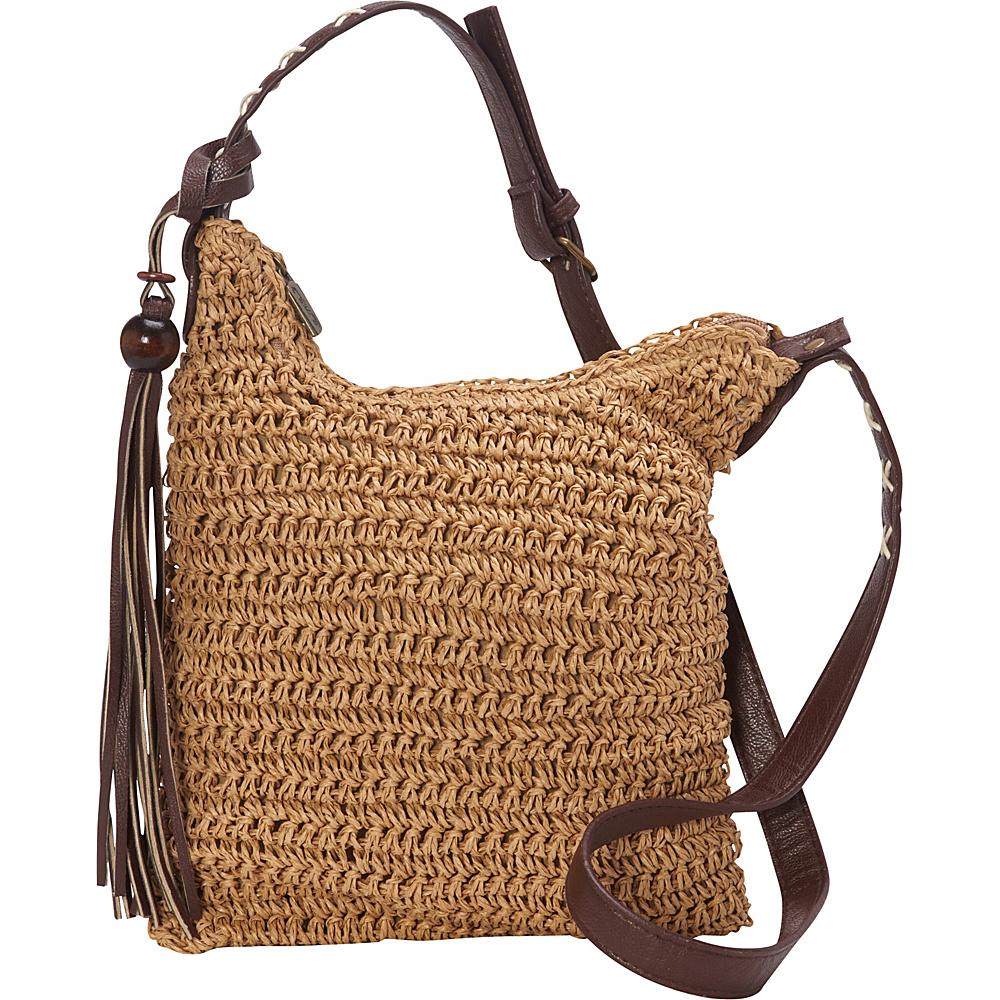 Sun N Sand Nina Crossbody Toast - Sun N Sand Straw Handbags - Handbags, Straw Handbags