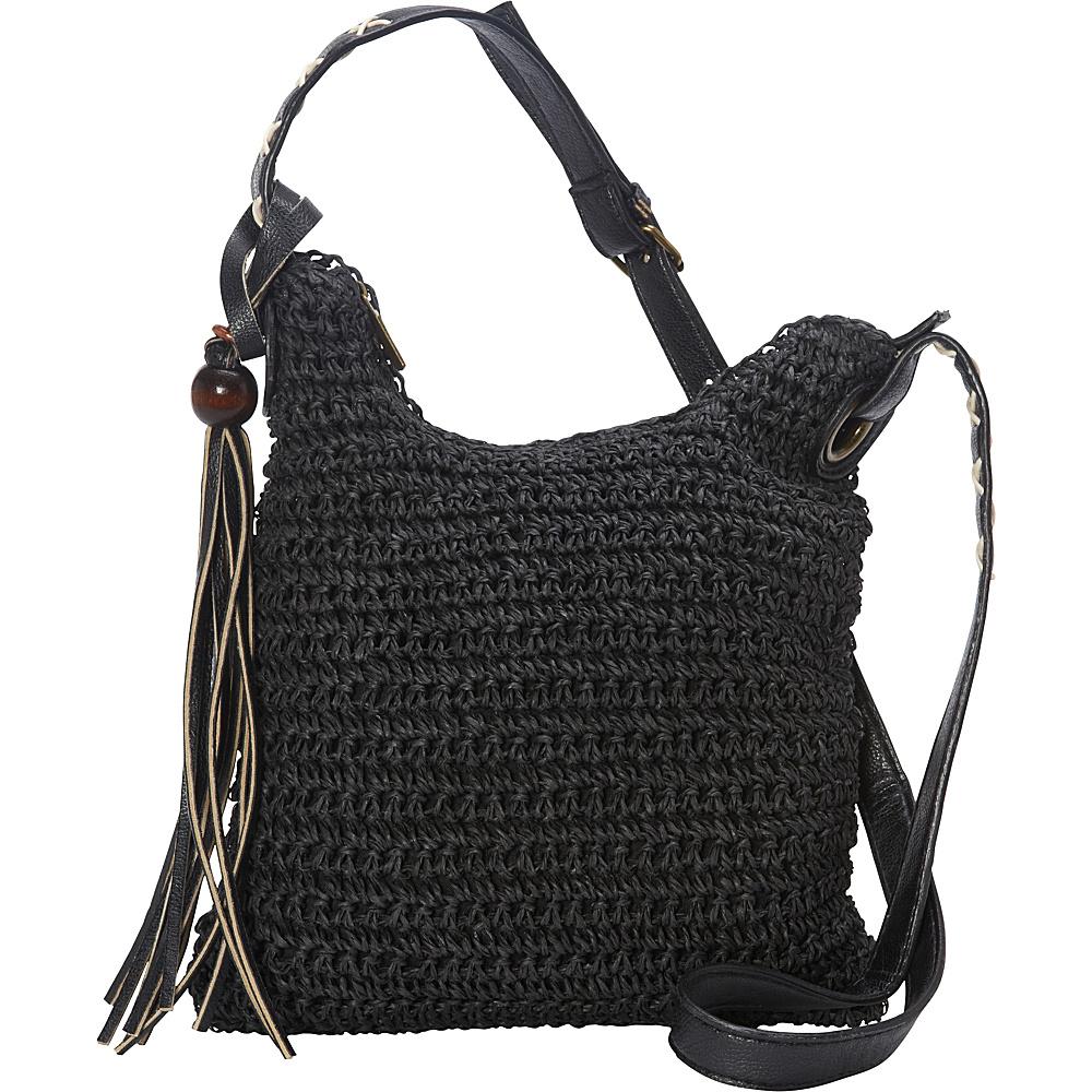 Sun N Sand Nina Crossbody Black - Sun N Sand Straw Handbags - Handbags, Straw Handbags