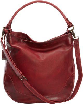 Frye Melissa Hobo Burgundy - Frye Designer Handbags