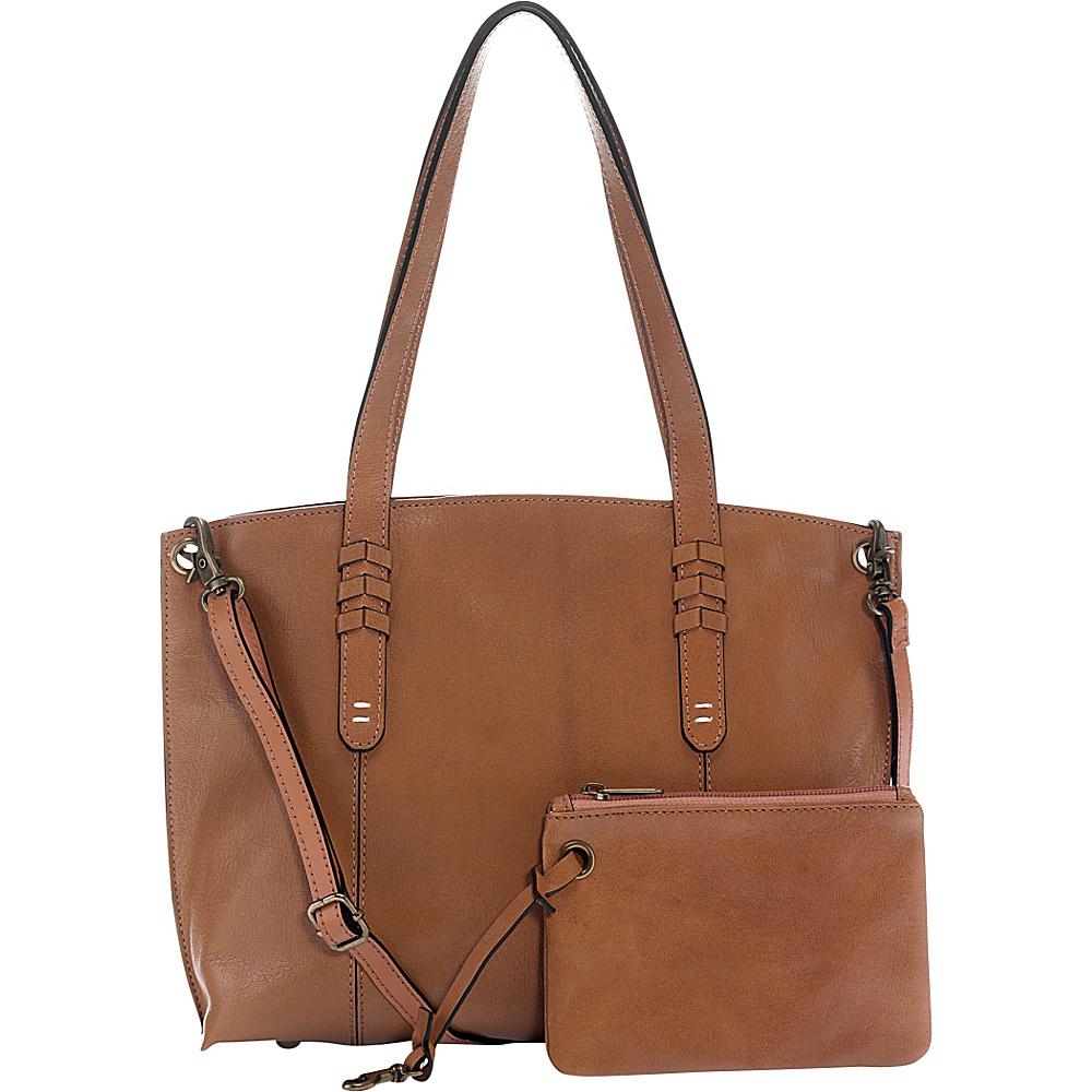 Ellington Handbags Delia Small Crossbody Tote Brown - Ellington Handbags Leather Handbags