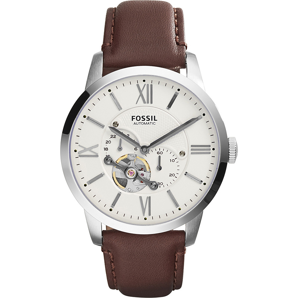 Fossil Townsman Automatic Leather Watch Brown/White - Fossil Watches - Fashion Accessories, Watches